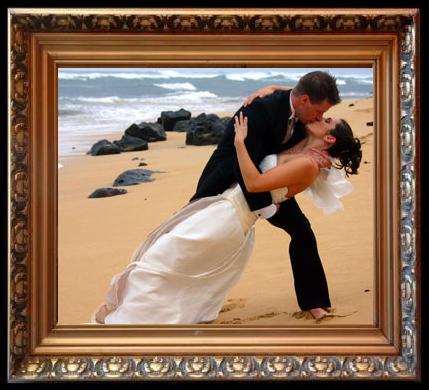 Armastajate vaheline armulõõm rannal